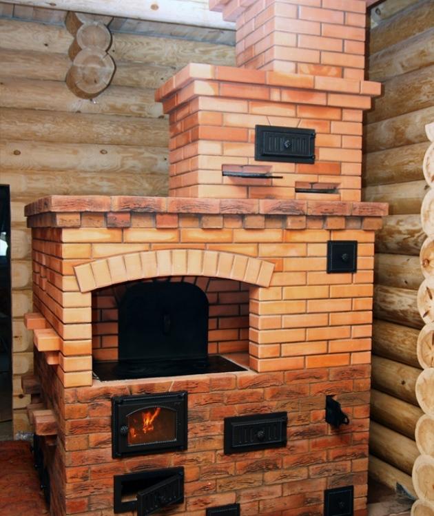 Печь кирпичная для дома на дровах своими руками с водяным контуром