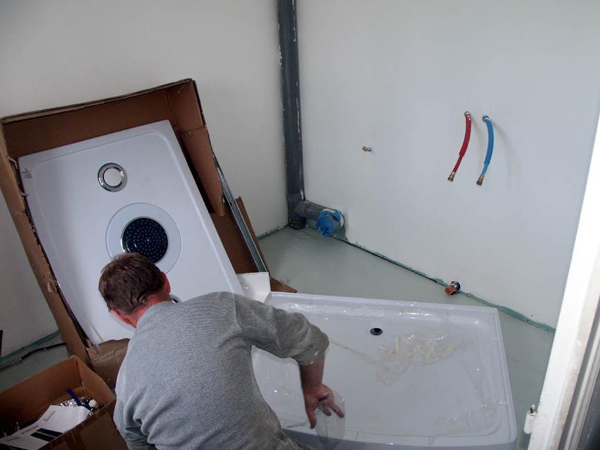 Подводка канализации душевой кабины своими руками