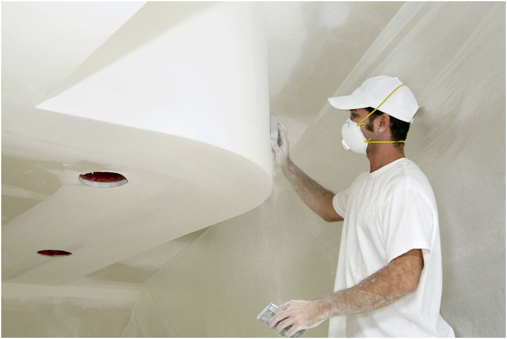 Финишная отделка потолка из гипсокартона своими руками