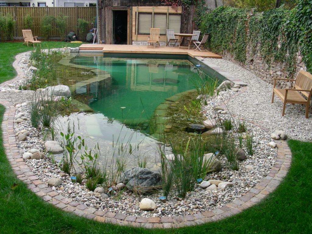 Выбор места для декоративного водоема
