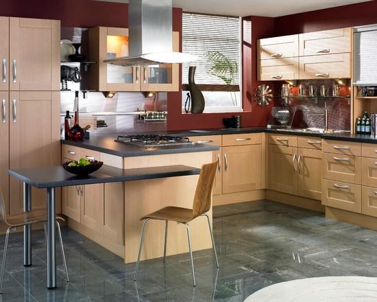 Бежевый цвет на кухне