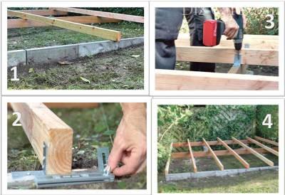 Как укладывать доски на приподнятую террасу