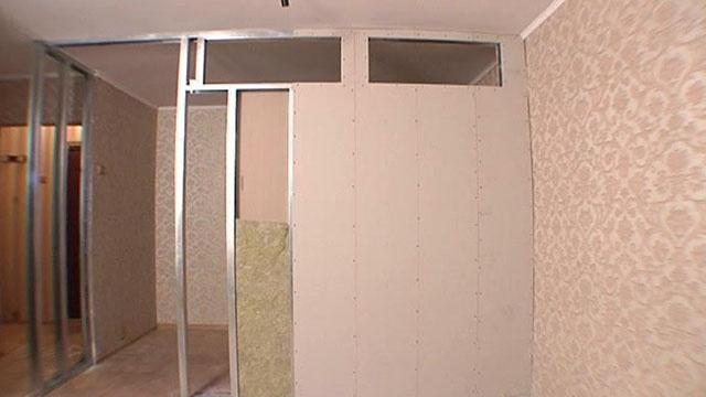 Как построить перегородку в комнате своими руками