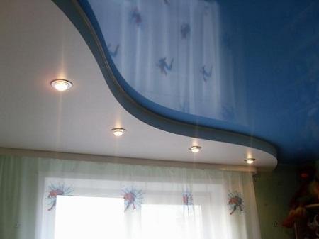 Двухуровневый натяжной потолок своими руками