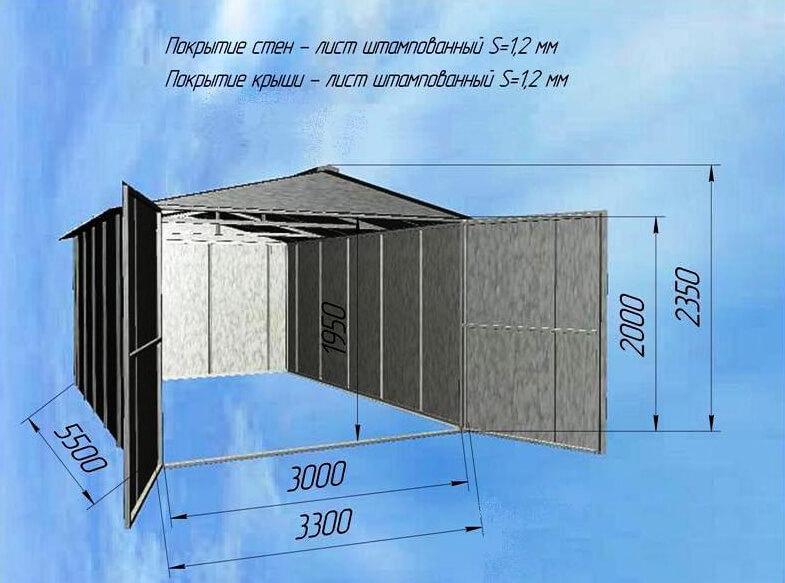 razmery-metallicheskogo-garazha