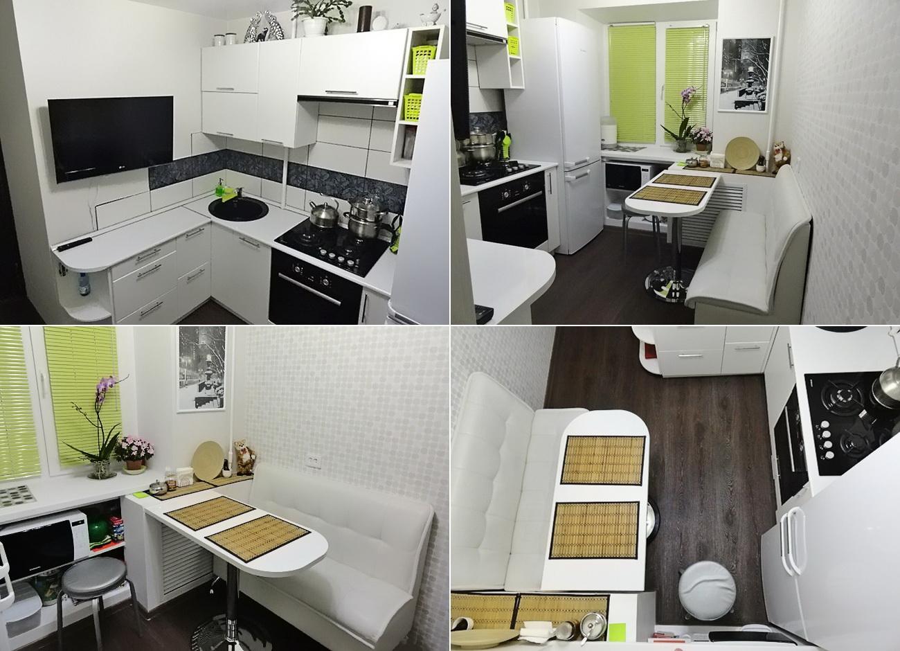 Маленькая кухня 6 кв. м дизайн