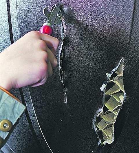 Защитная функция металлической входной двери