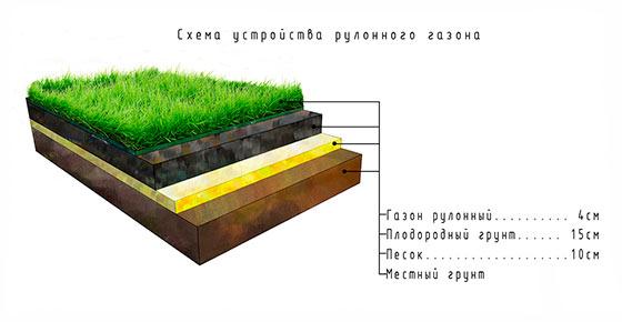 Подготовка поверхности для укладки рулонного газона